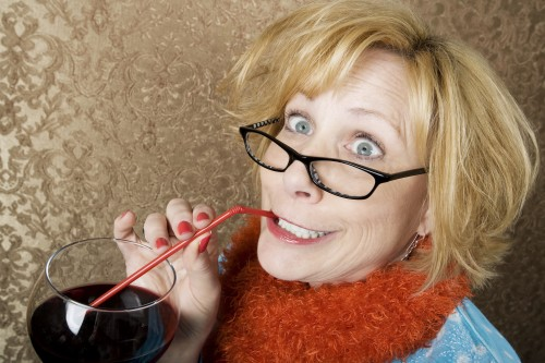crazy-woman-drinking-wine