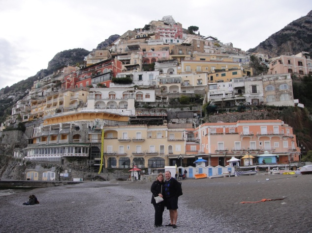 Here we are on the beach of Positano