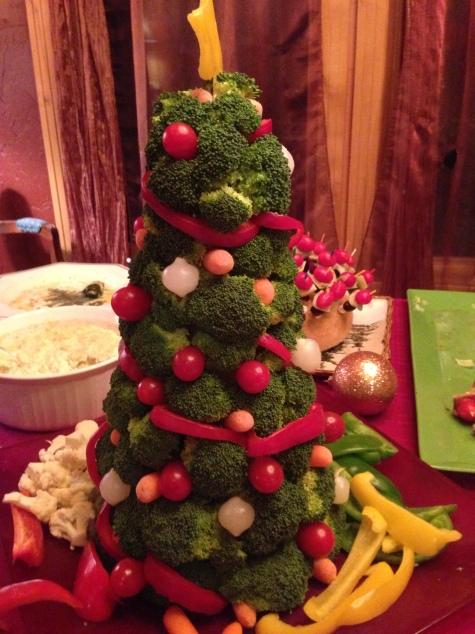 Christmas Vegetable Tree
