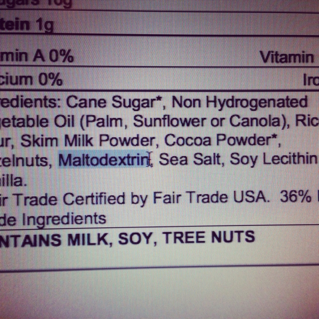 What Is This in My Food? Maltodextrin?